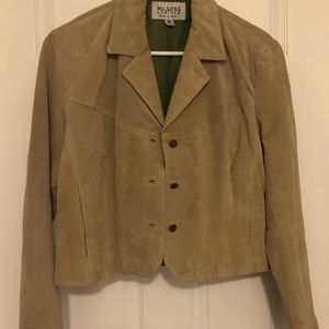 SUEDE LEATHER Button Up Jacket
